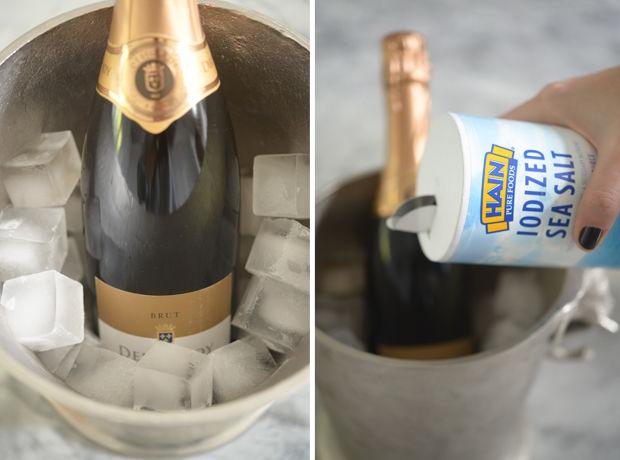 Schłodzenie szampana